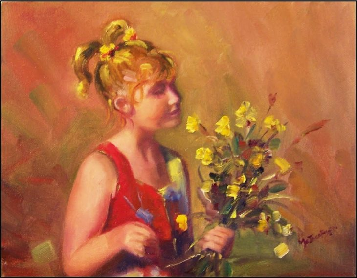 go_smell_the_flowers__paintings_of_children__daffodils__flowers
